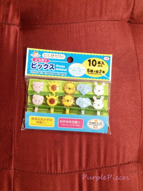 Saizen Daiso Animal Food Picks