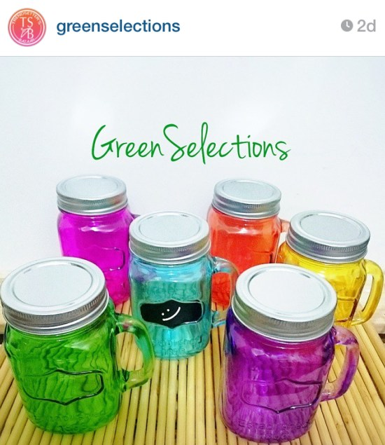 Colored Yorkshire Drinking Jars