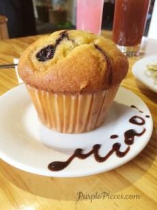Miao Cat Cafe Menu Blueberry Muffin