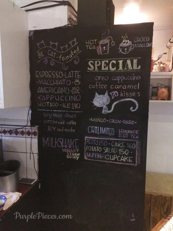 Miao Cat Cafe Menu