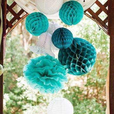Teal Paper Lanterns