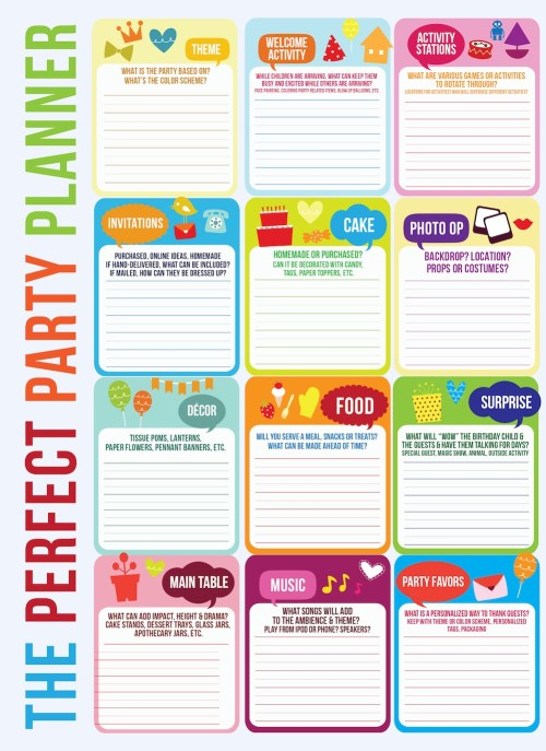 The Perfect Party Planner - Free Printable