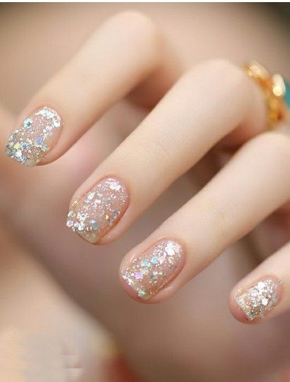 Glittered Nail Polish for Brides