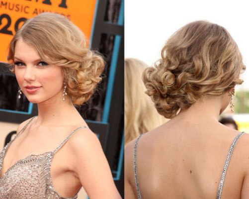 side-bun-hairstyle-taylor-swift