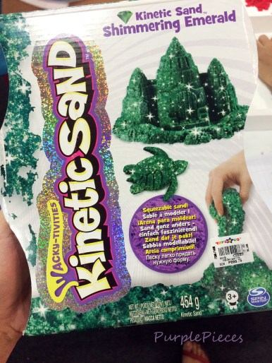 Kinetic Sand Shimmering Emerald