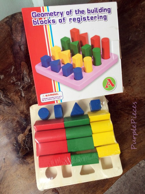 Size and Shape Sorting Board Wooden Toys