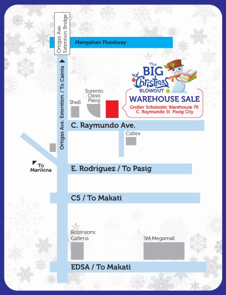 Scholastic Warehouse Sale Location Map