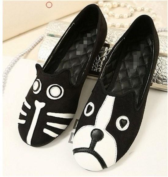 Cat Dog Mismatch Shoes Sapatos PH
