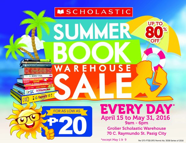 Scholastic Summer Book Warehouse Sale 2016
