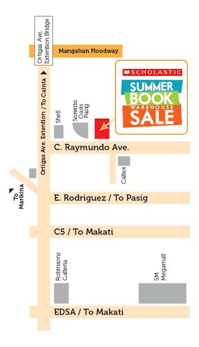 scholastic summer book sale warehouse map location