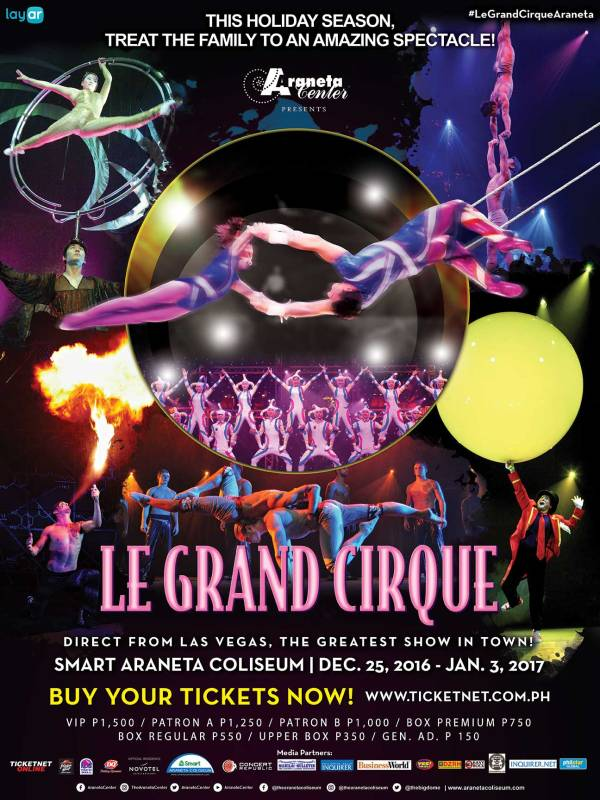 Le Grand Cirque at Smart Araneta Center