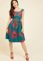 ModCloth Celebrated Sophisticate Midi Dress