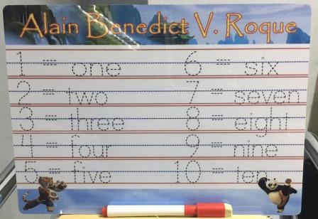 Writing Boards for Kids Numbers - Personalized