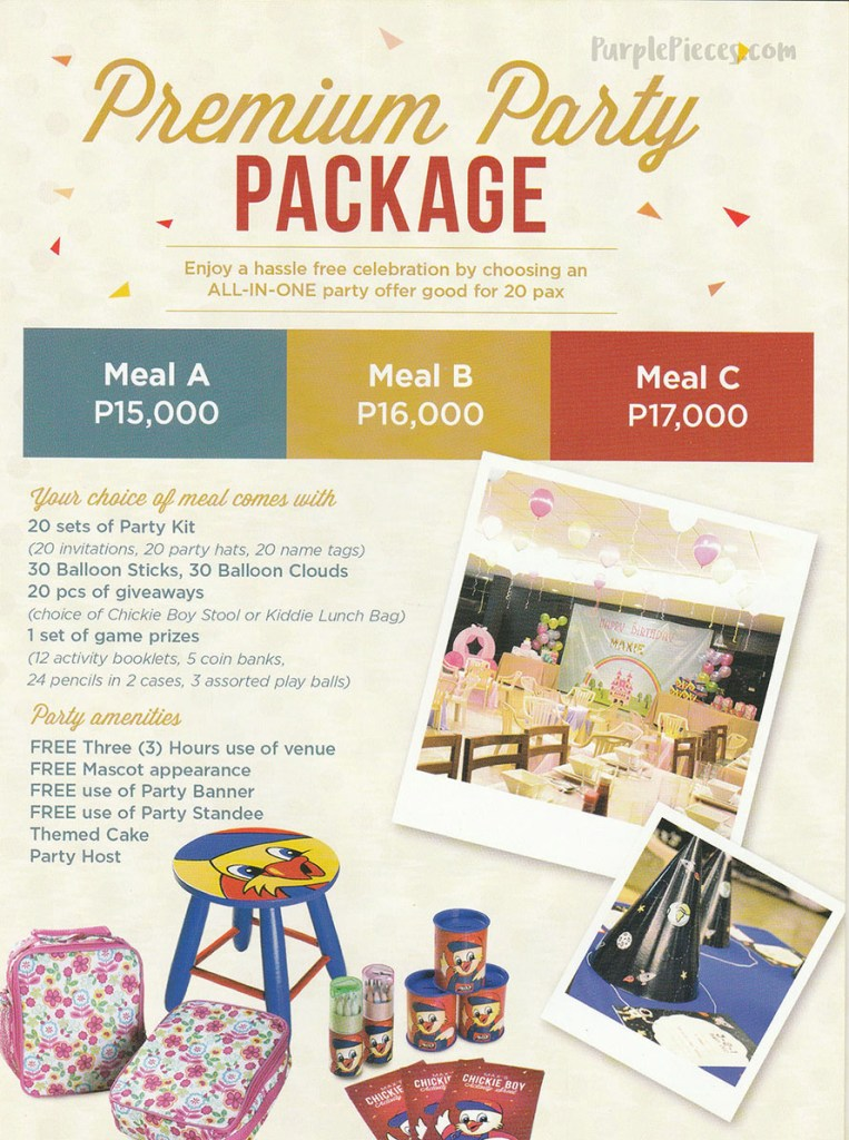 Max's Birthday Party Package