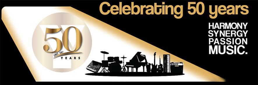 Yamaha 50 years banner