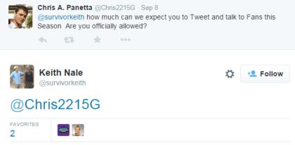 Keith tweet- allowed to social media
