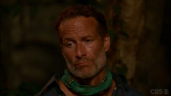 Cambodia- Savage at tribal council sad face
