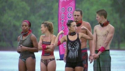 Cambodia- Ciera flexing at reward challenge