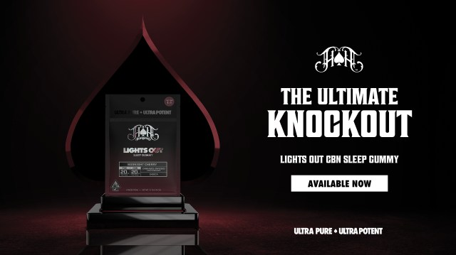 Heavy Hitters. The Ultimate Knockout. Lights out CBN Sleep Gummy. Available Now. Ultra pure. Ultra potent.