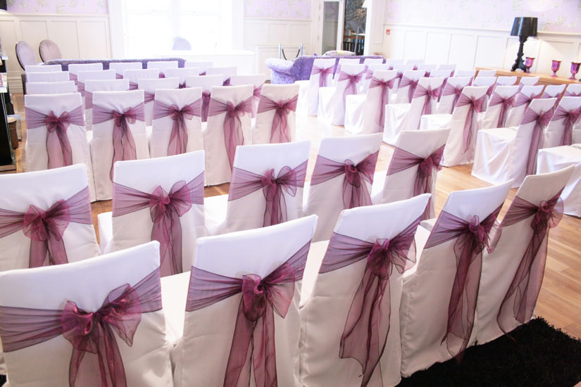 wedding chair cover hire lancaster outdoor patio cushions venue dressing | covers cumbria the lake district