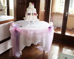 wedding chair cover hire lancaster eames rocker table runner | cumbria swagging lake district