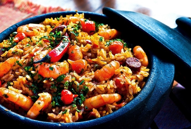 Africa shrimp rice