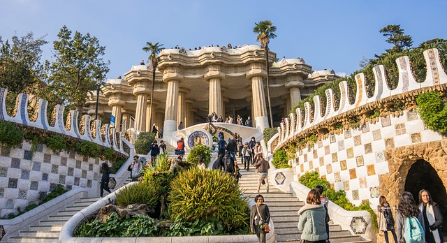 he Park Guell Travelling With Friends In Barcelona