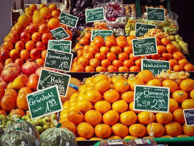 food markets in Vienna fruit