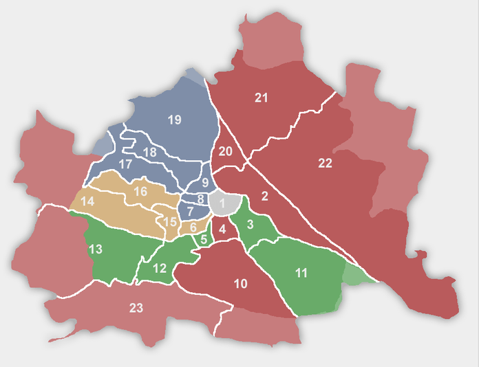 the districts of vienna austria abbl