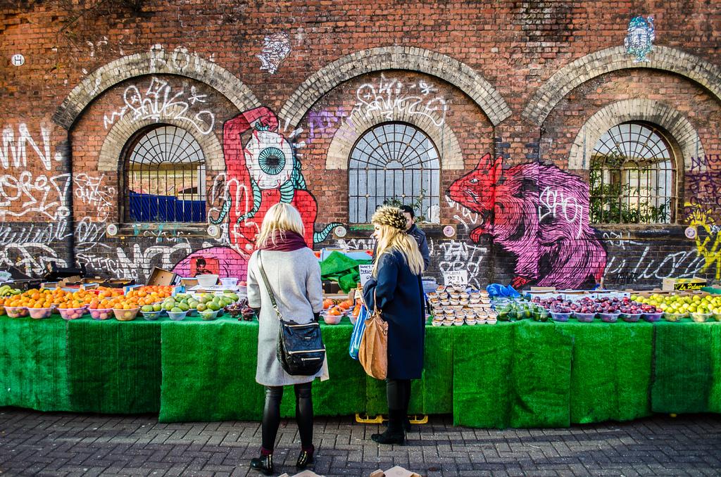 London Food Markets Brick Lane Graffiti