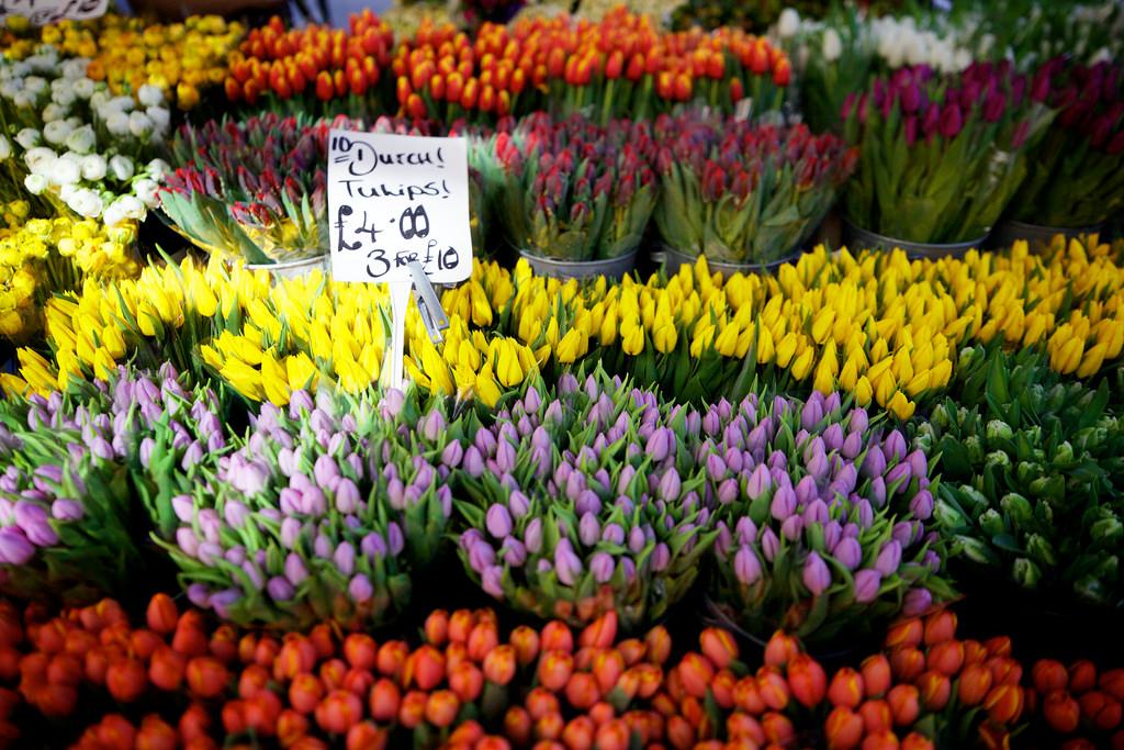 London Food Markets Columbia Road Flower Market