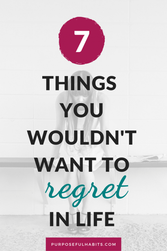 Life can be full of regrets. Things we wished we had done, or done differently. Here is how to avoid living a life of regret, and living a life of joy and happiness. #Blog | #Forgiveness| #Self | #Motivational | #abusybeeslife | #Relationships | #Change | #NoRegrets | #SelfLove | #SelfCare | | #PersonalDevelopment | purposefulhabits.com