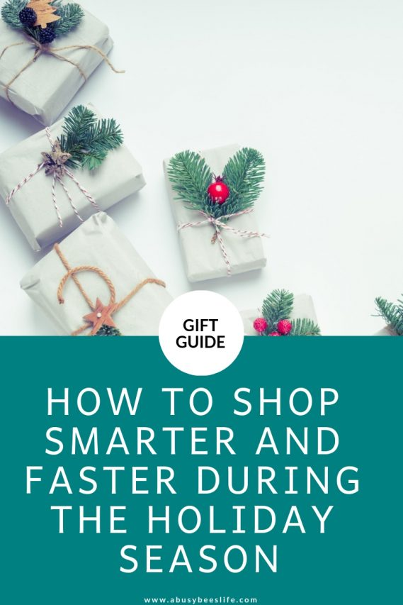 Love shopping for the holidays_ Yes! Does it get tiresome_ Oh yes! Well here are 5 ways to shop smarter and faster than Santa ever could! Click through to find out how. #abusybeeslife #shopping #holidayshopping