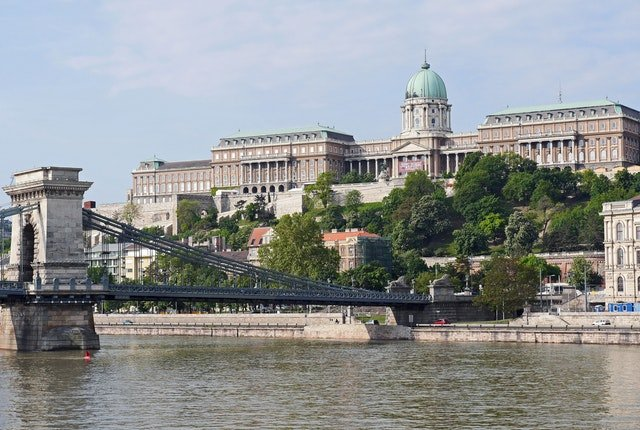 royale palace and Budapest chain bridge