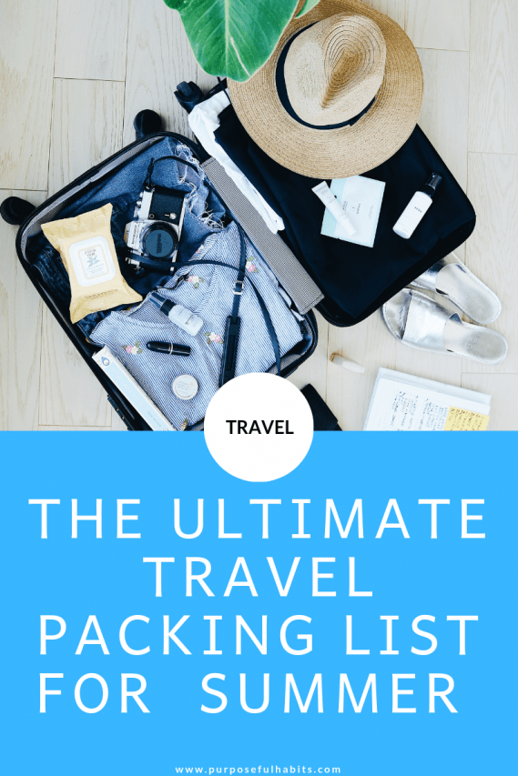Packing can be the most stressful part of traveling. Here is my ultimate checklist that will help you pack everything you need for your holiday like a pro. #checklist #traveltips #summer #holiday #travel #lists #traveladvice #destinations