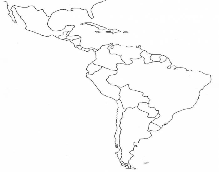 Latin America Physical Map Quiz