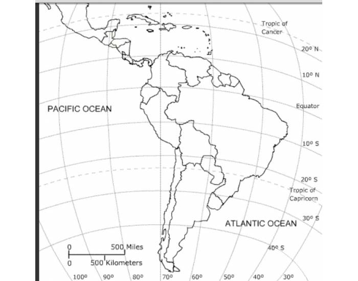 Central, South American, and Caribbean Map Quiz
