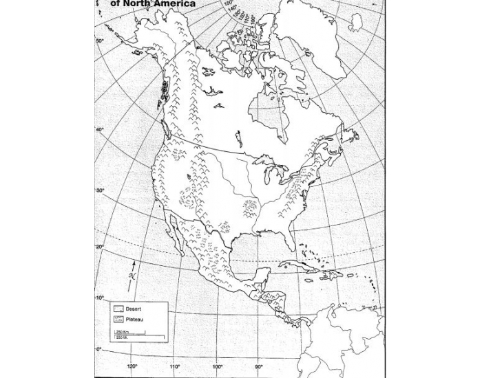 North America Physical Map Quiz