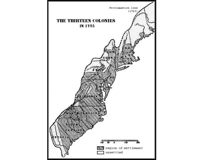 Geography of the Thirteen Colonies