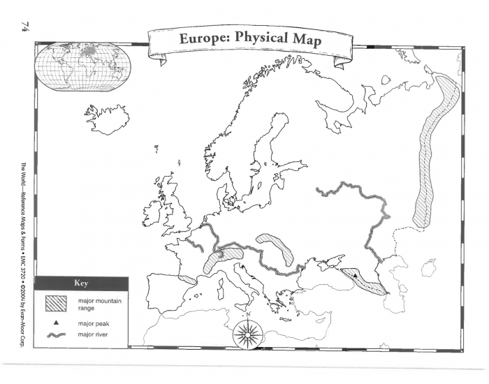 Europe: Physical Map Challenge