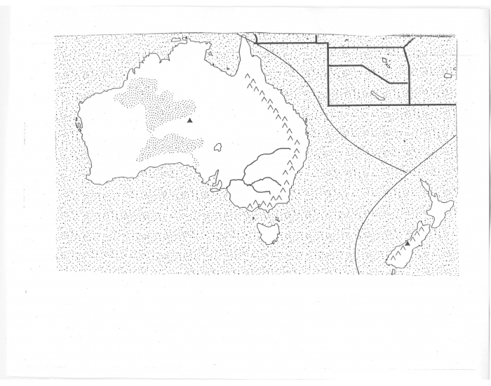 Australia and oceania physical map