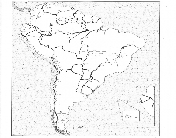 South America Physical Map Test