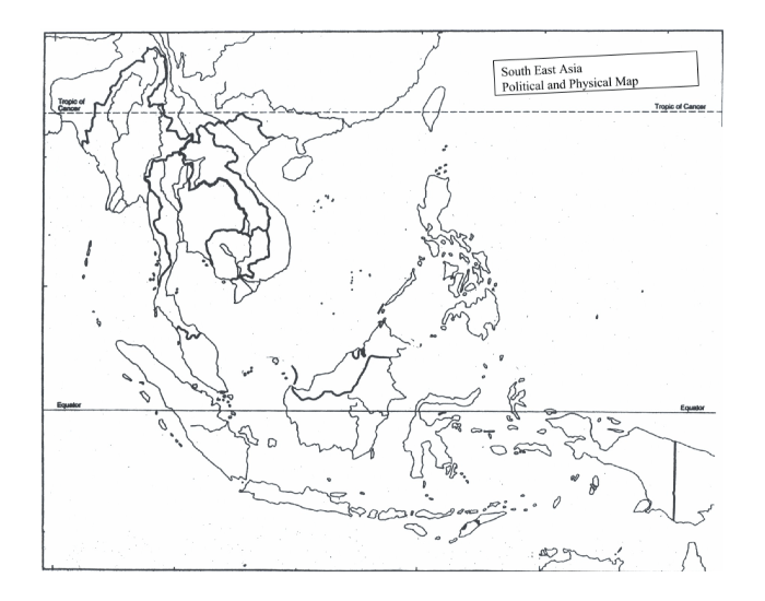Blank South East Asia Map