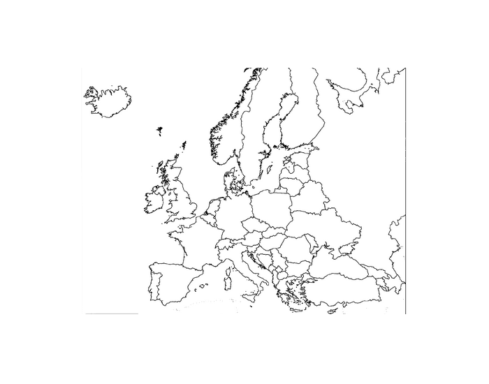 Post Cold War Map of Europe