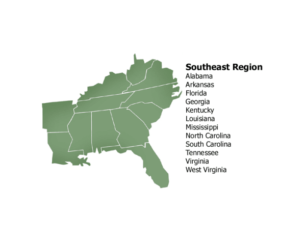 Southeast Region Capitals
