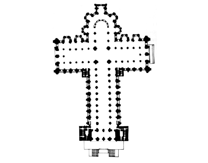 Latin cross plan
