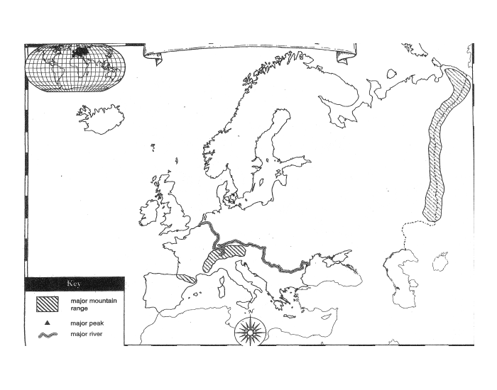 Europe Physical Features Quiz