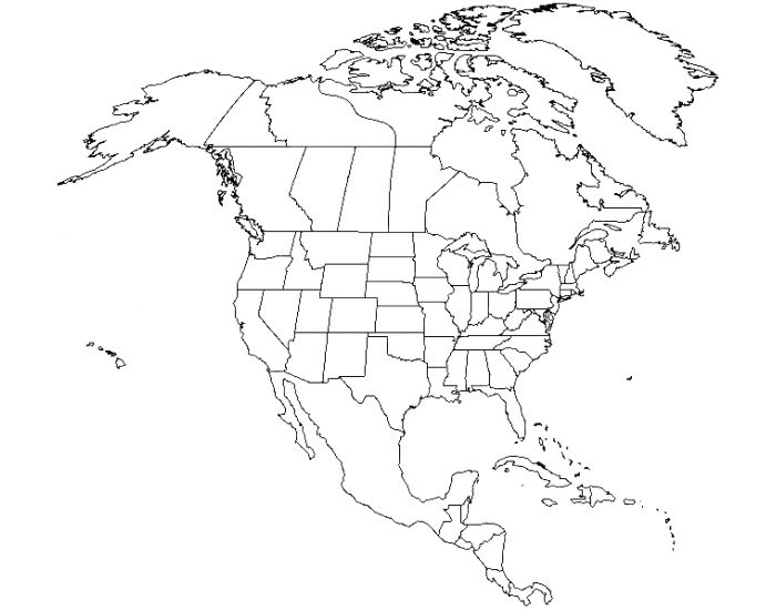 North American Physical Map