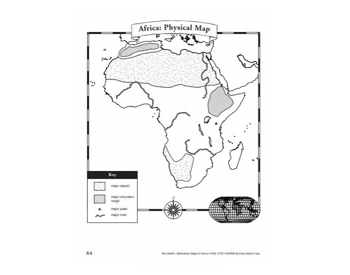 Africa: Physical Map Quiz 2018 (7th Grade)