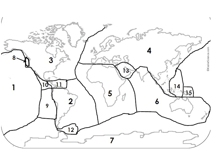 Identify the Tectonic Plates of the World!!!!